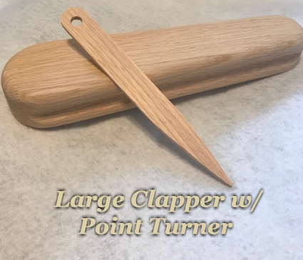 Large Clapper with Point Turner Wooden - Sewing and Quilting