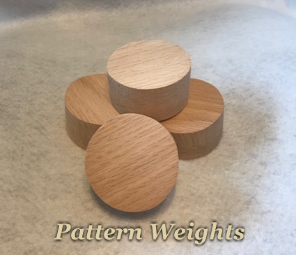 Set of 4 Pattern Weights